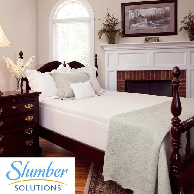 Slumber Solutions 2-inch Latex-infused Memory Foam Mattress Topper