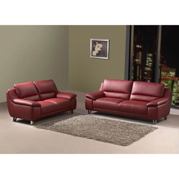 Stupendous Shop Valencia Leather Sofa And Loveseat Set Free Shipping Creativecarmelina Interior Chair Design Creativecarmelinacom