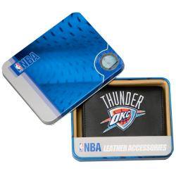 Oklahoma City Thunder Men's Black Leather Tri-fold Wallet