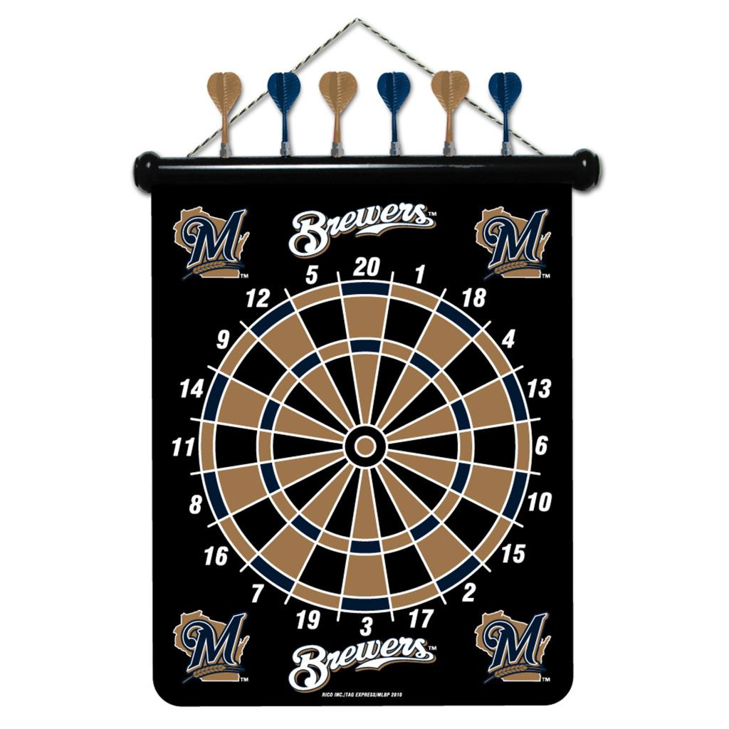 Milwaukee Brewers Magnetic Dart Board