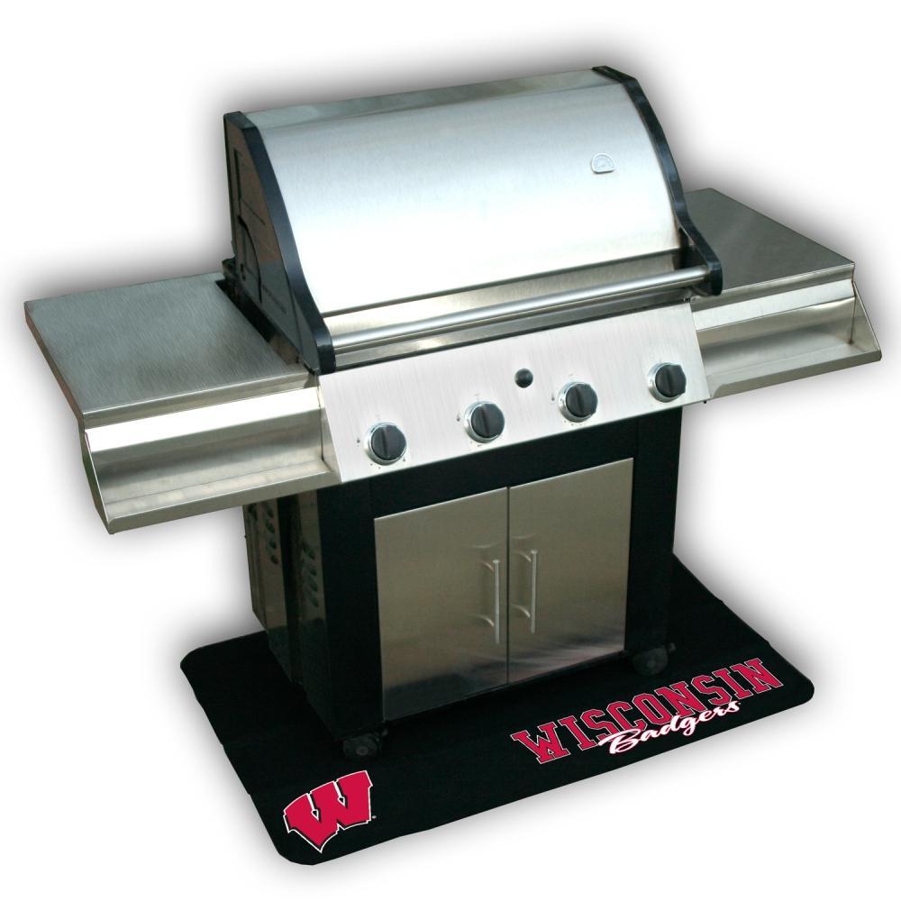 Wisconsin Badgers Vinyl Grill Mat