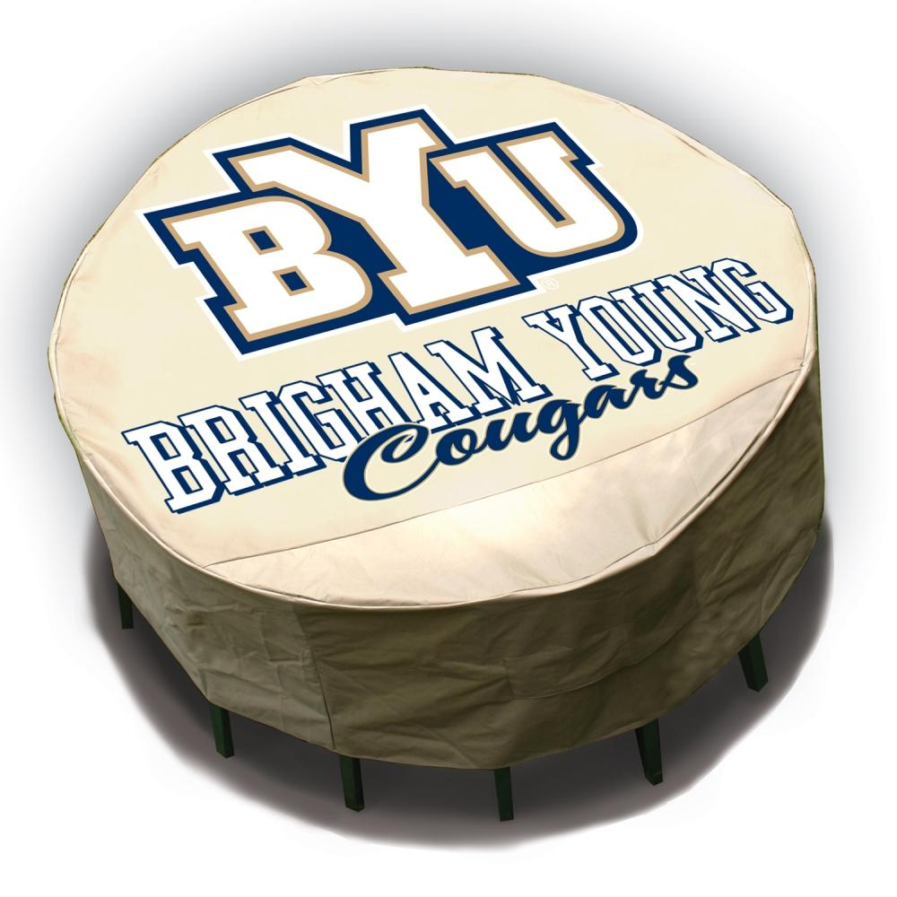 NCAA BYU Cougars Round Patio Set Table Cover