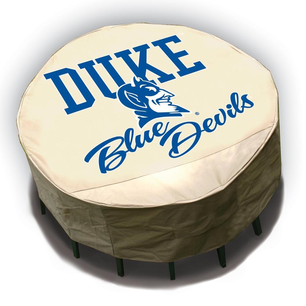 NCAA Duke Blue Devils Round Patio Set Table Cover