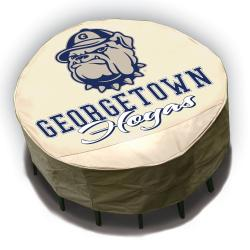 NCAA Georgetown Hoyas Round Patio Set Table Cover - Thumbnail 1