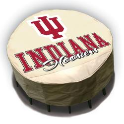 NCAA Indiana Hoosiers Round Patio Set Table Cover - Thumbnail 2