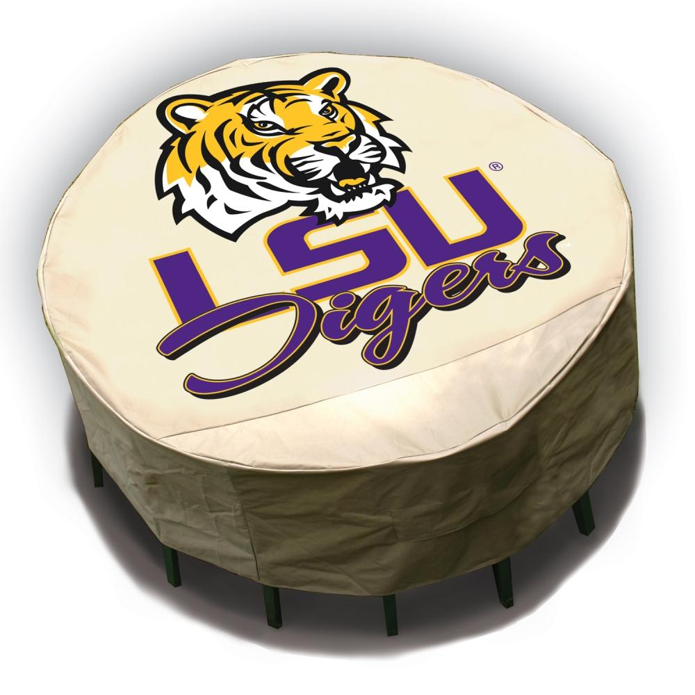 LSU Tigers Round Patio Set Table Cover