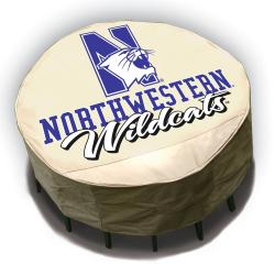 NCAA Northwestern Wildcats Round Patio Set Table Cover