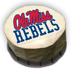 NCAA Ole Miss Rebels Round Patio Set Table Cover - Thumbnail 1