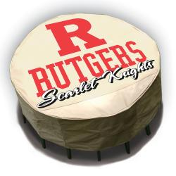 NCAA Rutgers Scarlet Knights Round Patio Set Table Cover