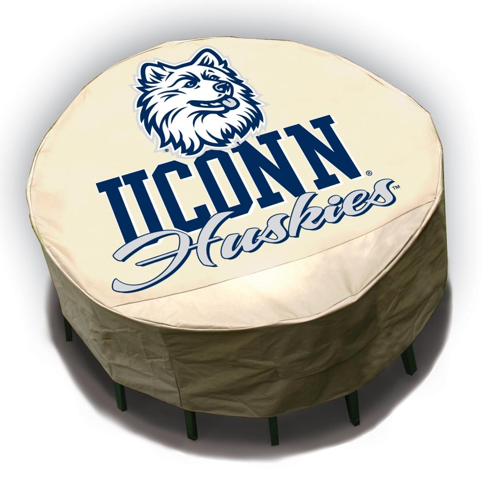 NCAA UCONN Huskies Round Patio Set Table Cover