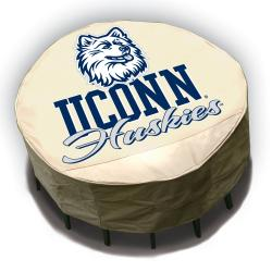 NCAA UCONN Huskies Round Patio Set Table Cover - Thumbnail 1