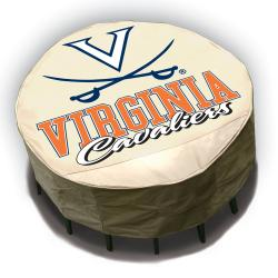 NCAA Virginia Cavaliers Round Patio Set Table Cover - Thumbnail 2