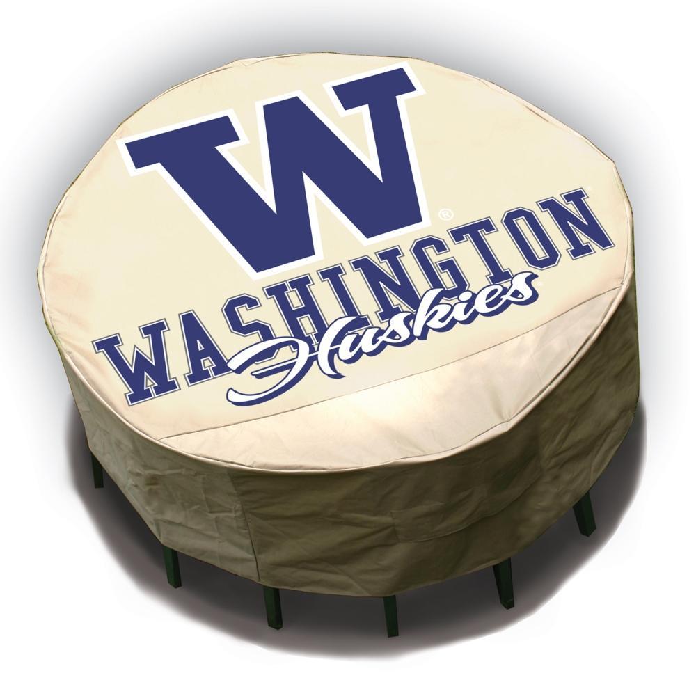 NCAA Washington Huskies Round Patio Set Table Cover