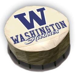 NCAA Washington Huskies Round Patio Set Table Cover - Thumbnail 1