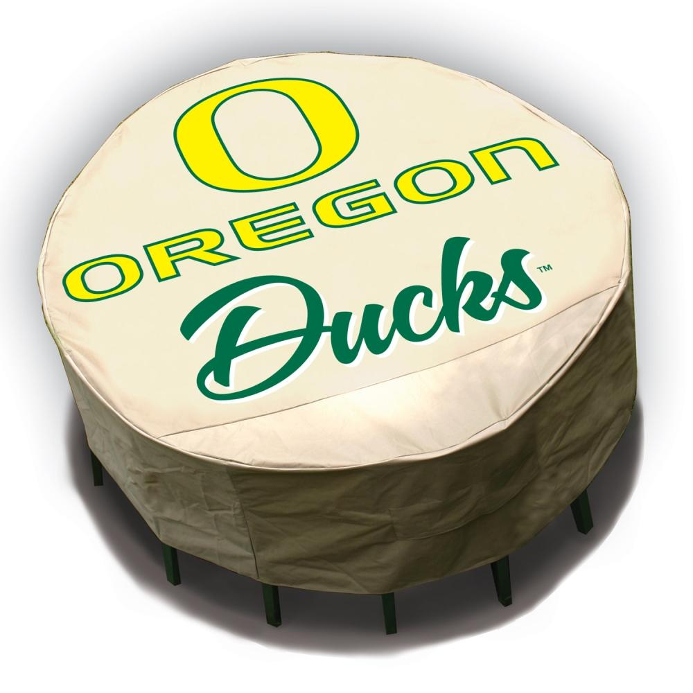 NCAA Oregon Ducks Round Patio Set Table Cover