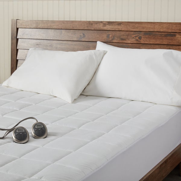 Shop Sunbeam Premium Heated Electric Cal King Size Mattress Pad