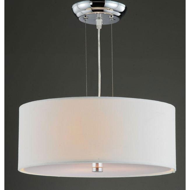 Altea Off-White Shade 3-light Chrome Pendant Chandelier