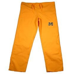 Gelscrub Unisex Gold Michigan Wolverine Scrub Pants