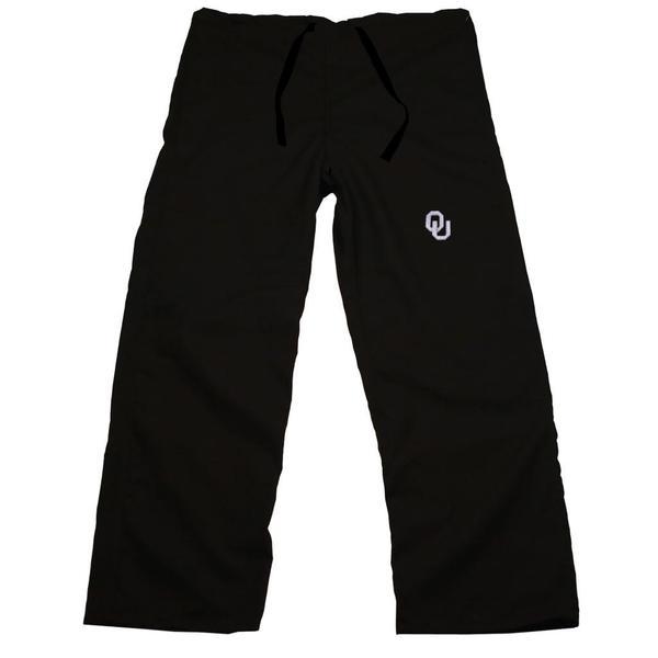 Gelscrub Unisex Black Oklahoma Sooner Scrub Pants