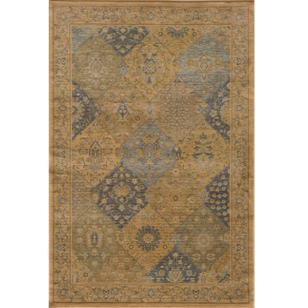 Preston Blue Panel Rug (7'10 x 9'10)