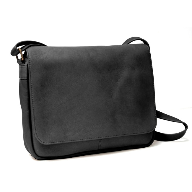 Royce Leather Vaquetta Flap-over Messenger Bag