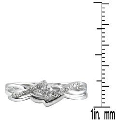 Marquee Jewels 10k White Gold 1/6ct TDW 2-Piece Diamond Ring Set - Thumbnail 2