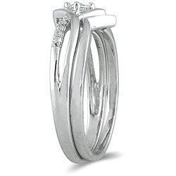 Marquee Jewels 10k White Gold 1/6ct TDW 2-Piece Prong-set Diamond Ring Set (I-J, I1-I2) - Thumbnail 1