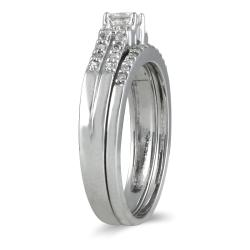 Marquee Jewels 10k White Gold 2/5ct TDW Prong-set Diamond Bridal Ring Set (I-J, I1-I2) - Thumbnail 2