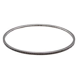 Victoria Kay Black Rhodium over Silver 7/8ct TDW Black Diamond Bangle Bracelet