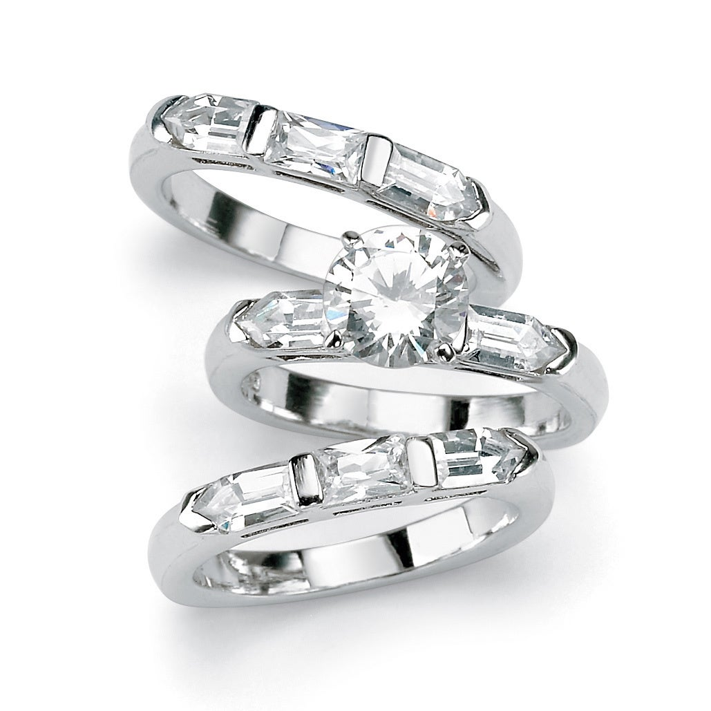 Palm Beach 5.31 TCW Round Cubic Zirconia Sterling Silver ...