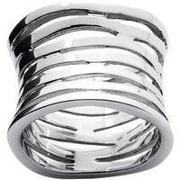 Multi-Row Concave Tailored Band in .925 Sterling Silver Tailored