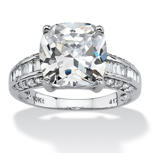 Engagement Ring Memorial Day Sale: Shop 10K White Gold Cubic Zirconia Engagement Ring