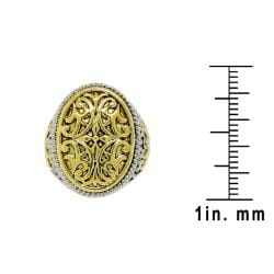 Two-tone Fancy Filigree Ring