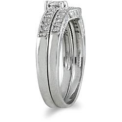 Marquee Jewels 10k White Gold 1/3ct TDW Diamond Bridal Ring Set (I-J, I1-I2) - Thumbnail 1