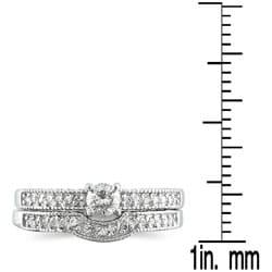 Marquee Jewels 10k White Gold 1/3ct TDW Diamond Bridal Ring Set (I-J, I1-I2) - Thumbnail 2