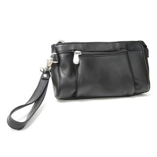 Royce Leather Vaquetta Multi-pocket Wristlet Wallet