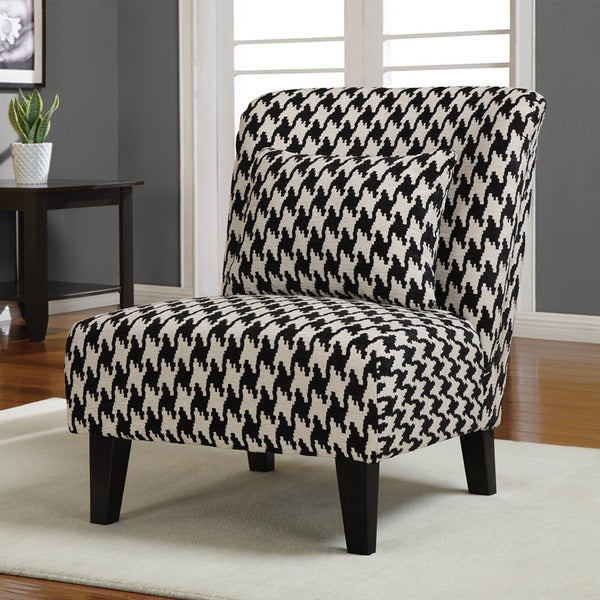 Shop Anna Houndstooth Grande Accent Chair - Free Shipping Today ...