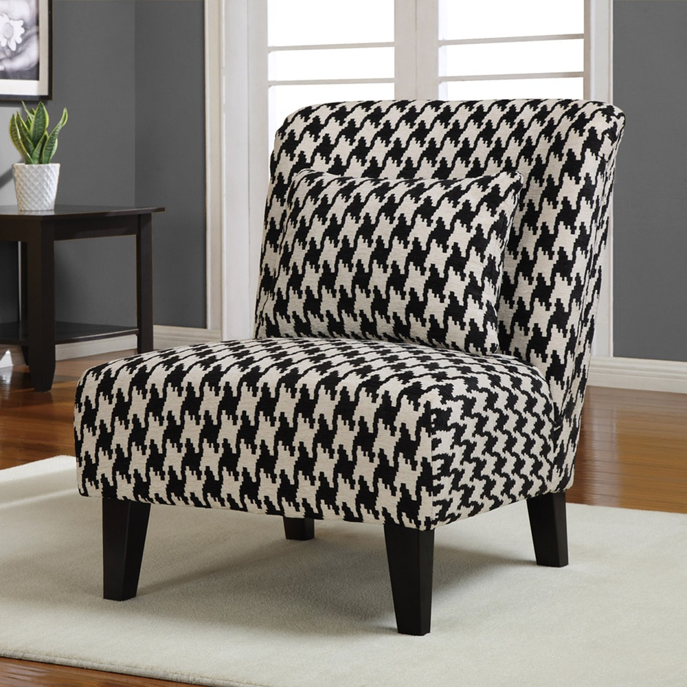 Anna Houndstooth Grande Accent Chair - Thumbnail 0
