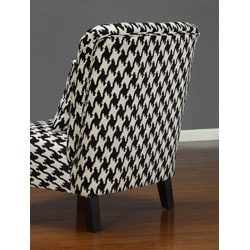 Anna Houndstooth Grande Accent Chair - Thumbnail 1