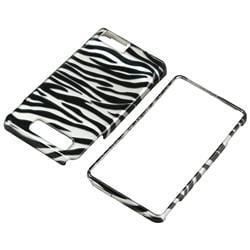 Silver/ Black Zebra Case for Motorola Droid Xtreme/ Droid X - Thumbnail 1