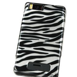 Silver/ Black Zebra Case for Motorola Droid Xtreme/ Droid X - Thumbnail 2