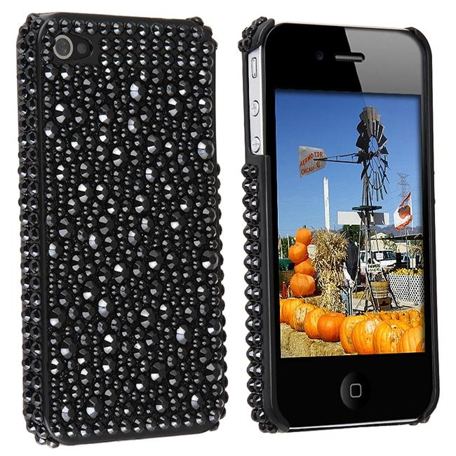 INSTEN Black Diamond Snap-on Phone Case Cover for Apple iPhone 4 - Thumbnail 0