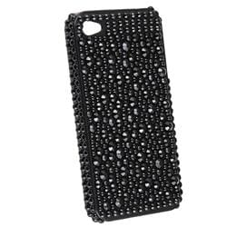 INSTEN Black Diamond Snap-on Phone Case Cover for Apple iPhone 4 - Thumbnail 1