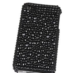 INSTEN Black Diamond Snap-on Phone Case Cover for Apple iPhone 4