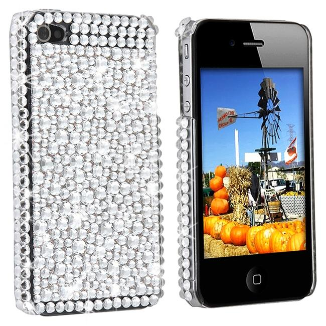 Silver Rhinestone Case for Apple iPhone 4 - Thumbnail 0