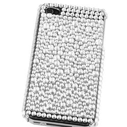 Silver Rhinestone Case for Apple iPhone 4 - Thumbnail 1