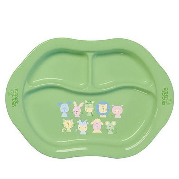 Green Sprouts Cornstarch Divided Plate