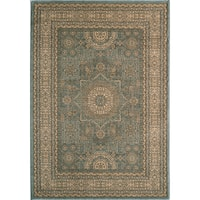 Momeni Belmont Light Blue Tabriz Rug (5'3 x 7'6)