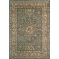 "Momeni Belmont Machine Made Polypropylene Light Blue Area Rug - 7'10"" x 9'10"""