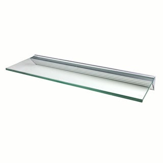 Glacier 36x12-inch Clear Glass Shelf Kits (Pack of 4)
